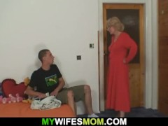 Mom in law rides his cock till wife comes in|16::Mature,26::Blonde