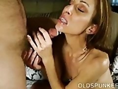 Super sexy slim old spunker is such a hot fuck