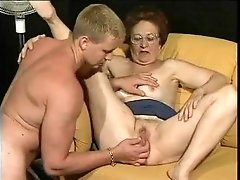 Playing with young man