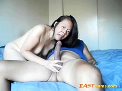 Hot asian neighbor can't get enough