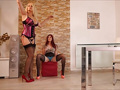 Bitch Panty Dominatrix Angel Wicky and Katy Gold