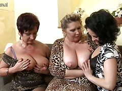 Three big breasted moms fucking and sucking in POV style