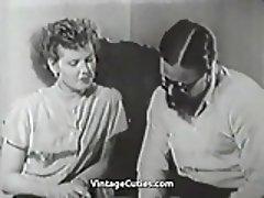Boy Fingering MILF's Vagina (1950s Vintage)