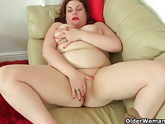 UK milfs Sexy Scorpio and Vintage Fox wear nylon no knickers