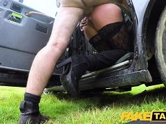Fake Taxi Blonde babe horny tourist masturbates