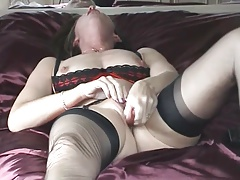very hot milf toying