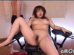 Aroused Shiori Kamisaki gets fucked good