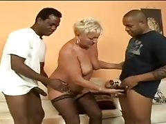 Filthy mature granny gaped by big cocks