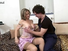 Hot steamy MILF fucks her toyboy