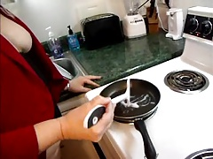 Wife Fries Up Cum