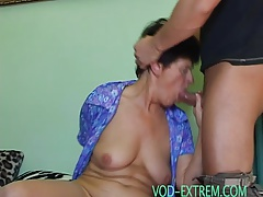 young muscle boy fucks an old grandmother