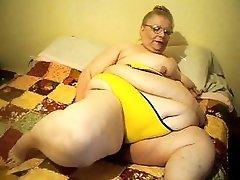 yellow bra and panties playing