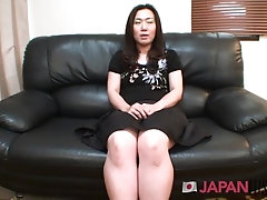 'Tomomi Tani Slips Down Her Panties and Shows Us Her Perfect Mature Pussy'