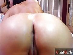Big booty webcam babe huge dildo double penetration