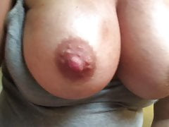 Great tits bouncing as I fuck myself August 2018