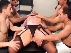 Group sex with busty moms sucking cock and getting drilled