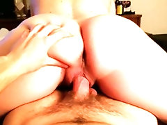 Pregnant wife rides huge cock