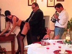 Vintage french group sex