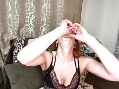 'throat fucking with a big dildo. deep throat from red fox'