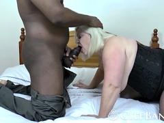 Dark meat pleasuring blonde babe