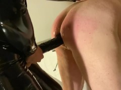 'femdom pegging and whipping by hot smoking mistress'