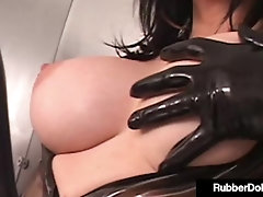 'Shiny Snatch Sluts RubberDoll And January Seraph Have Fun With Steel Dildo!'